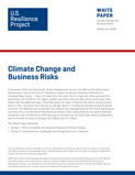 Climate Change and Business Risks