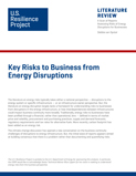 Energy Disruptions and Business Risks